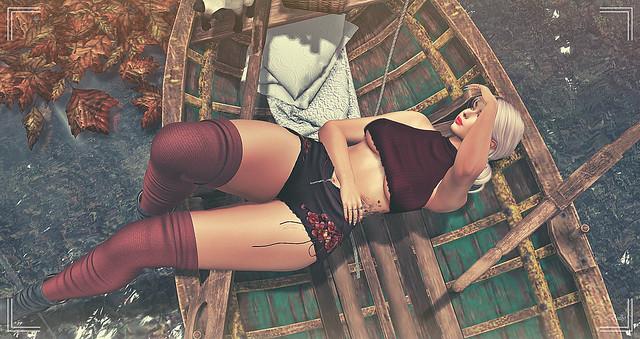 La Demoiselle sur la barque....