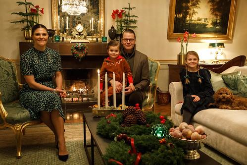 Advent Groet Kroonprinsesselijk gezin Zweden (2020)