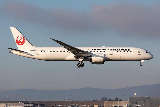JA880J Japan Airlines (JAL) Boeing 787-9 Dreamliner
