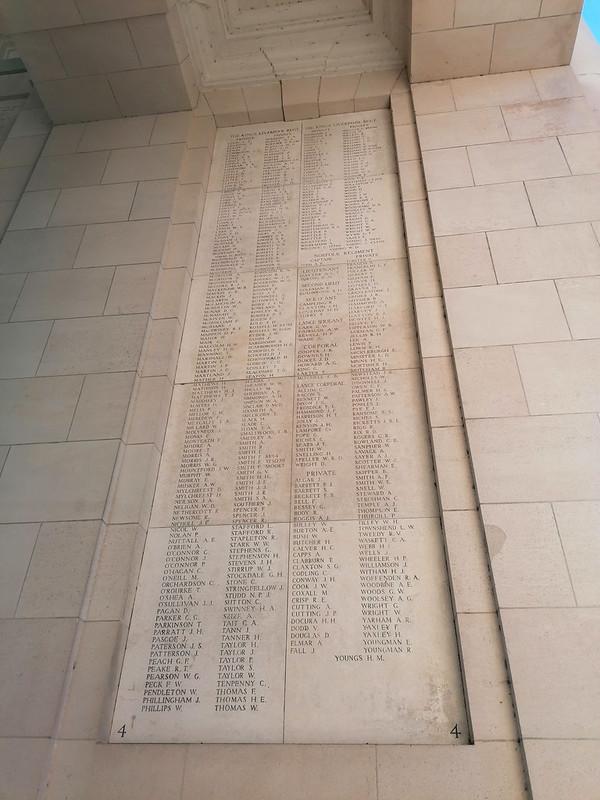 Nombres de soldados que murieron durante la Primera Guerra Mundial