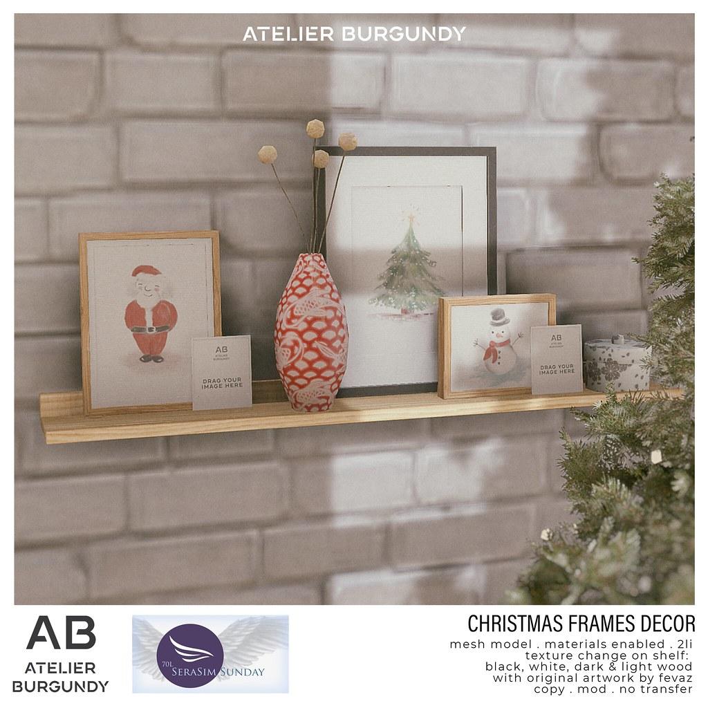Atelier Burgundy . Christmas Frames Decor Serasim