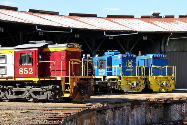 A2243. 852,48207,48212 stabled at Junee 16-5-18