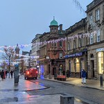 Early evening down the high street at Preston