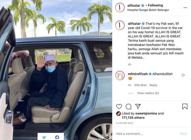Datuk Alif Satar Sembuh Covid-19, Sudah Dibenarkan Pulang Ke Rumah