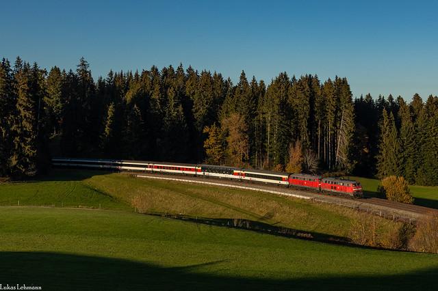 DB 218 463 + DB 218 452 | EC 195 ( XSZH - MH ) | Heimhofen