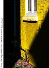 Early Morning Sunbeam On The Yellow Wall