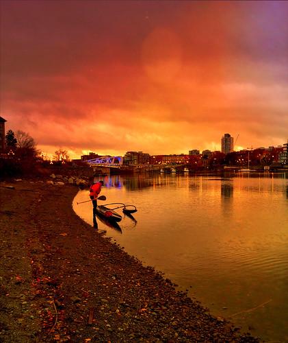 canoe beach sunrise