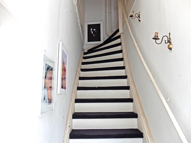 Die Treppe zum Clubraum