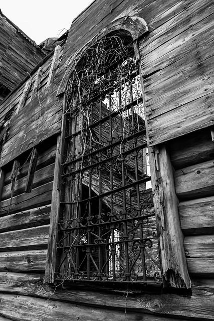 Abandoned church window