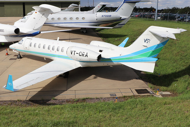 VT-CRA  -  Bombardier Learjet 45 c/n 45-019  -  LTN/EGGW 24/8/20