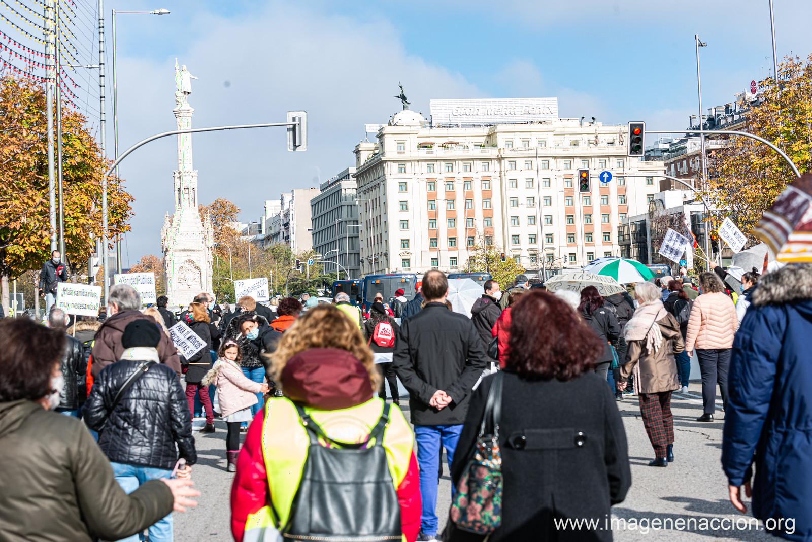 Manifestación en Madrid de la  Marea Blanca -EXTRAS-