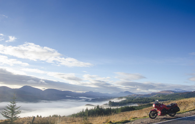 K75 and a cloud inversion over Loch Garry, Scotland.