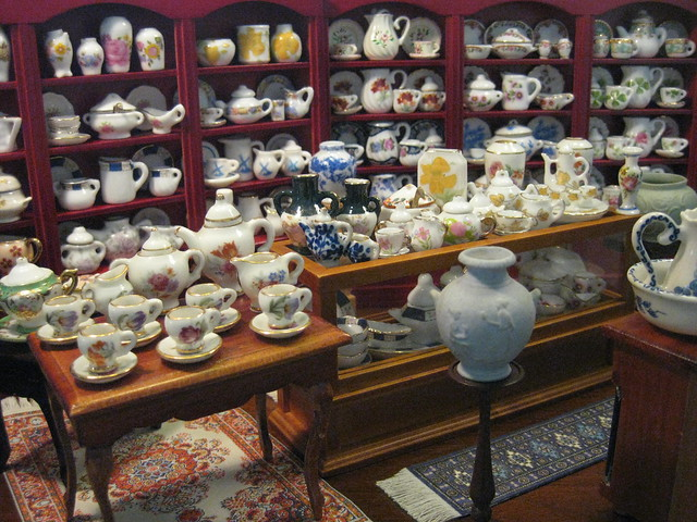 A Leisurely Shopping Expedition in Marshall and Snelgrove's Crockery Department