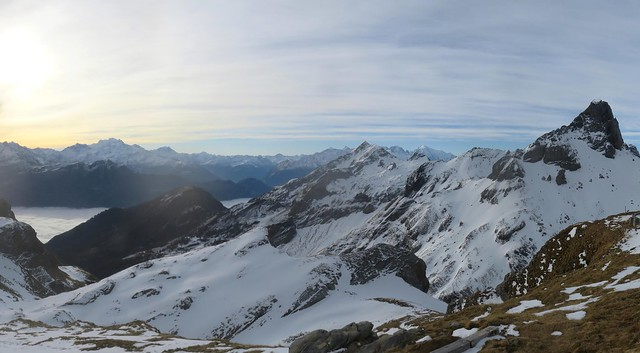 Views from Cabane Rambert, Swiss Alps