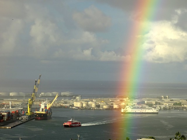 Rainbow - Papeete Harbour - Tahiti