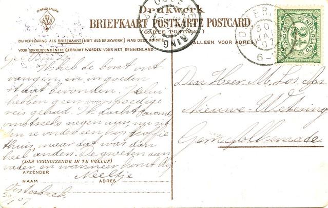 Oosterbeek Hemelsche berg eendenvijver uitgave onbek gelopen 1907 achter