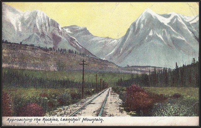 c. 1906 Hibben & Company (No. 47) Postcard - View of the Canadian Pacific Railway Track