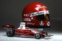 Niki Lauda British GP 1975 1/2 Scale Helmet