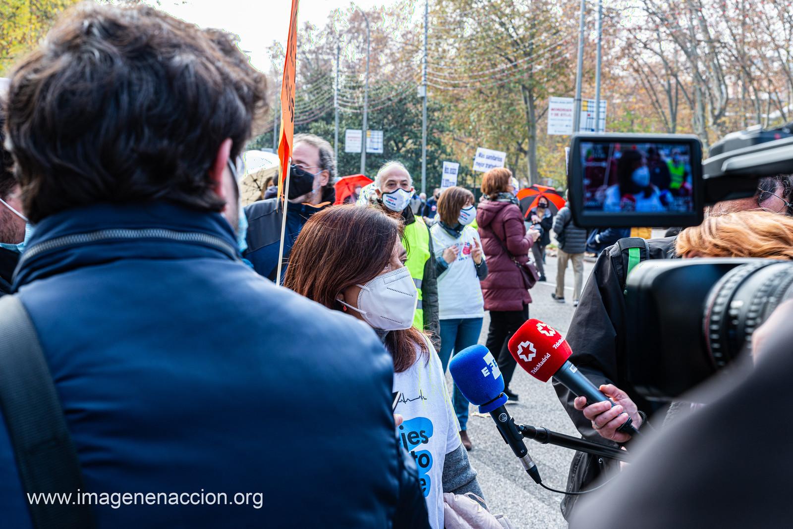 Manifestación en Madrid de la  Marea Blanca