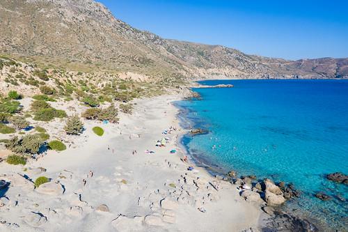 Paralia Kedrodasos beach on Crete, Greece
