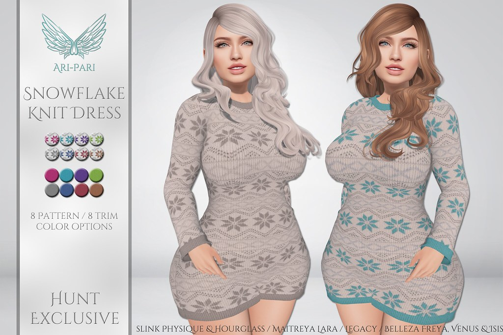 [Ari-Pari] Snowflake Knit Dress
