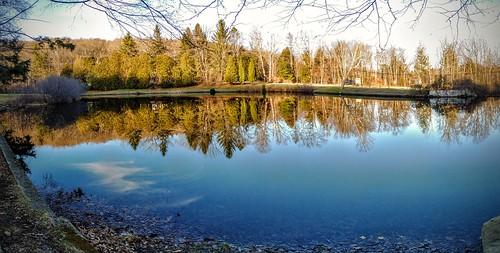 smack53 panorama autumn season fall reflections water pond westmilford newjersey motogpower