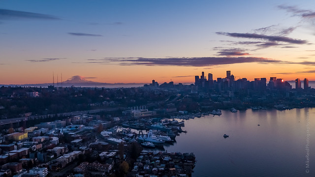 Over Seattle Rainier Lenticular Sunset