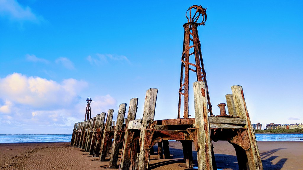 Rotting jetty on St Annes beach