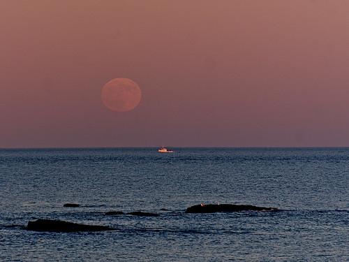 Beaver Full Moon Rising
