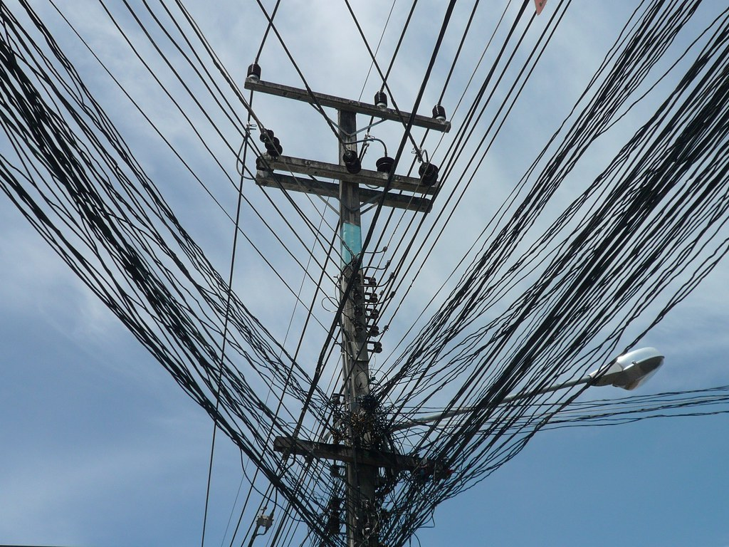 telegraph wires