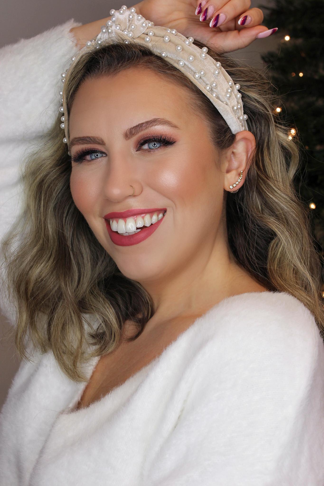 Easy Glam Holiday Makeup Tutorial using bareMinerals, ILIA Beauty & Maven Beauty by FashionNova by Blogger, Jackie Giardina.