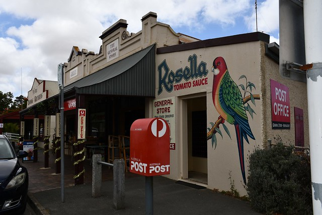 Port Elliot old shop front with our famous Rosella sign, Fleurieu Peninsula South Australia