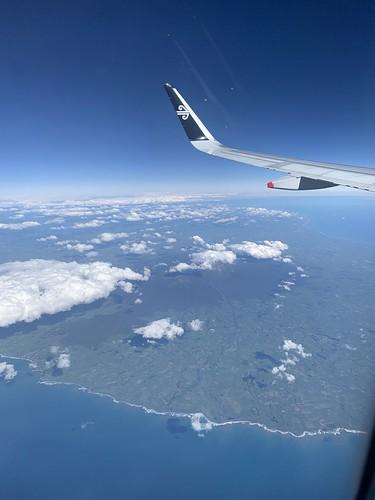 Air New Zealand - over Mt Taranaki