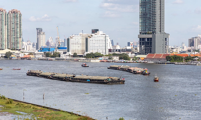 Chao Phraya River barges