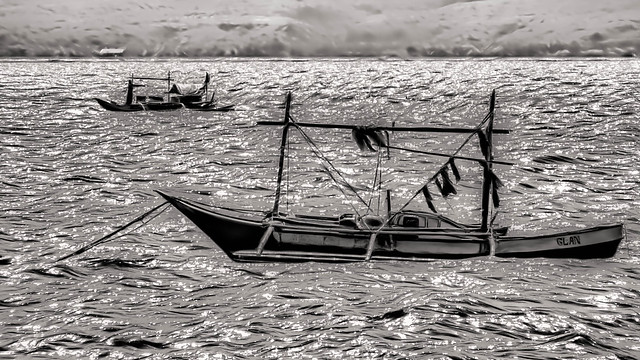 Fishing boats in Glan, The Philippines