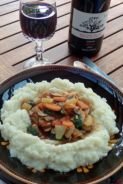 Today's lunch - Vegan Richa's Mushroom Bourguignon With Potato Cauliflower Mash