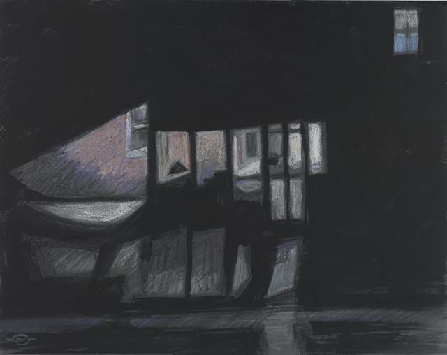 Porch light-Blue Window