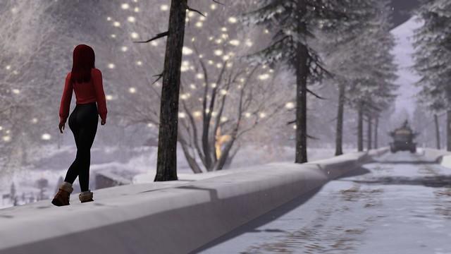 I prefer to walk in the snow