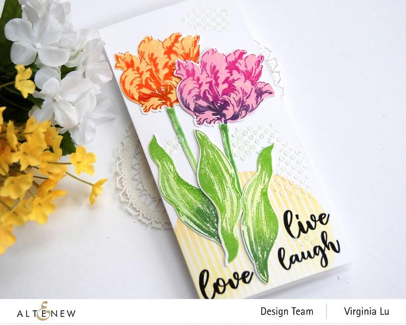 Altenew-BAF Parrot Tulips-Sphere Stencil-Feeling Dotty Stencil-Embossing Paste-001
