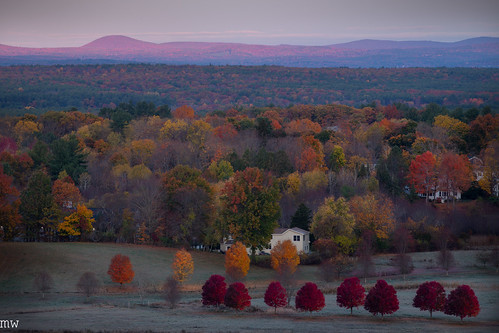 gibbet hill sunrise new england fall foliage autumn