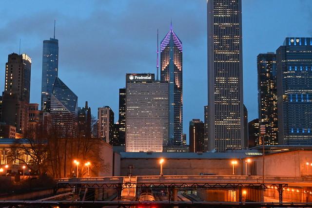 Chicago Skyline from Grand Park