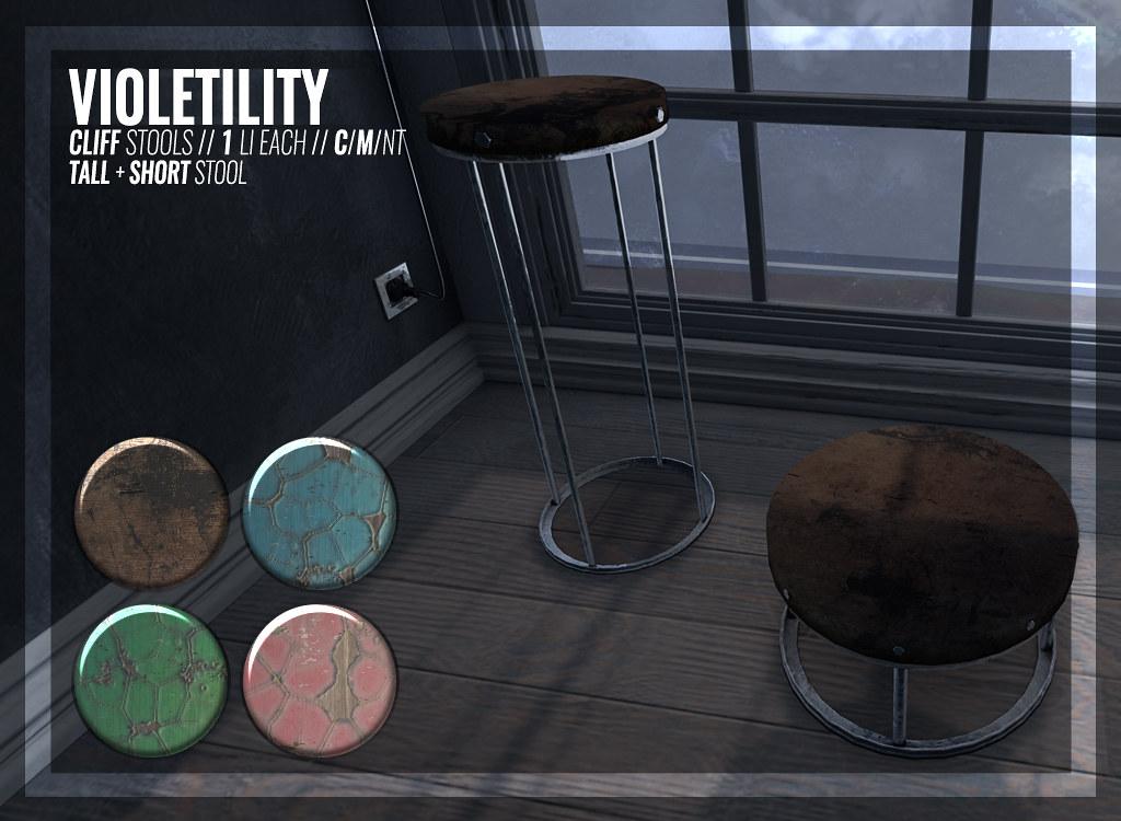 Violetility – Cliff Stools