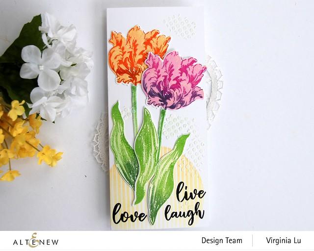 Altenew-BAF Parrot Tulips-Sphere Stencil-Feeling Dotty Stencil-Embossing Paste-002