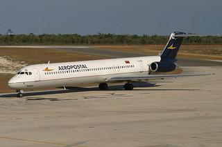 YV-02C. MD-82. Aeropostal. SDQ.