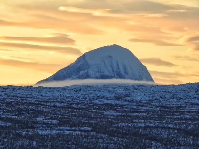 Imagen del parque nacional Stora Sjöfallet en Laponia Sueca