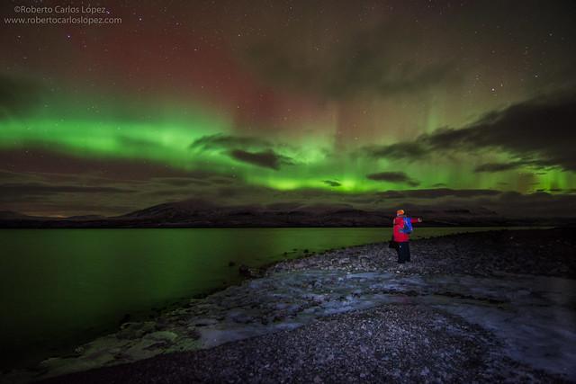 Viendo auroras boreales en Laponia Sueca