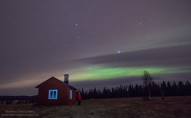 Auroras boreales en Laponia Sueca