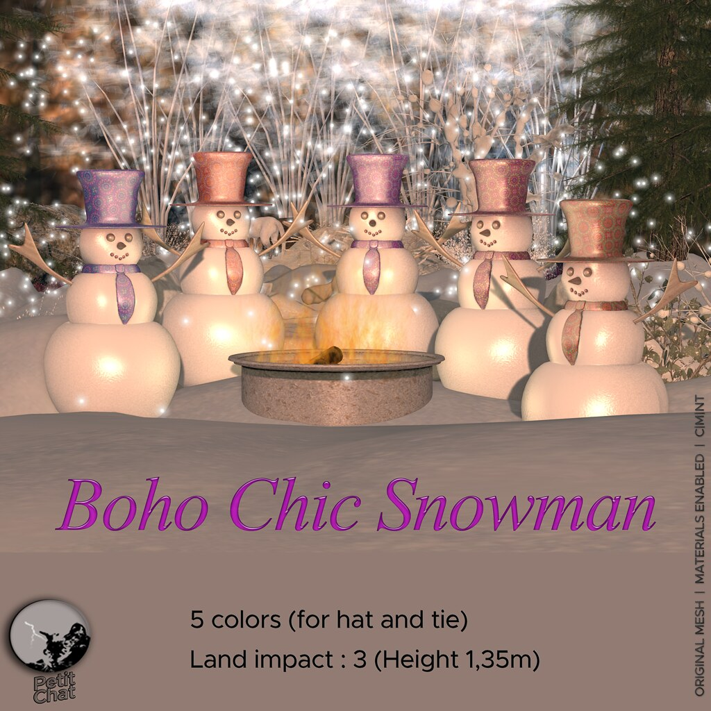 New release : Boho Chic Snowman @ I ♥ The Cart Hunt
