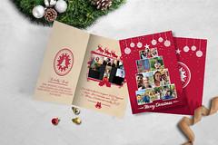 christmas card, greeting card, or invitation card