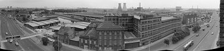 Blackwall Tunnel Northern Approach, Tweed House, view, Bromley-by-Bow, Tower Hamlets, 1983 35v-4-pan_2400